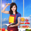 Woman chef — Stock Photo