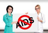 Zastavení aids symbolu — Stock fotografie