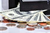 сейф с деньгами — Стоковое фото