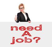 Potrzebujesz pracy? — Zdjęcie stockowe