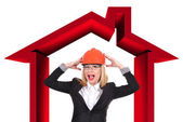 Woman engineer — Stock Photo