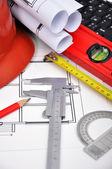 Stavební výkresy — Stock fotografie