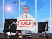 Placard con vendita — Foto Stock