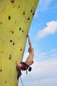 Alpinista muscular — Fotografia Stock