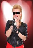 Sexy rocker girl — Stock Photo