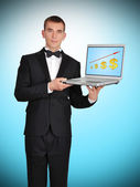 Businessman in tuxedo — Stock Photo