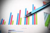 Ficha financeira — Fotografia Stock