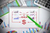 Drawing idea concept — Stock Photo