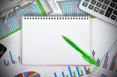 Caderno em branco — Foto Stock