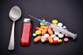 Píldoras de estupefacientes — Foto de Stock