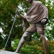 Mahatma Gandhi. The monument in Moscow, Russia. — Stock Photo