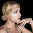 Girl in the Greek style, with chain-rim on the head and a gold bracelet on her arm. — Stock Photo #13118917