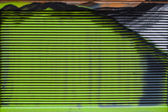 Abstract horizontal stripes of green. Ventilation grille painted graffiti close-up. — Stock Photo