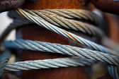 Rusty steel cable close-up — Stock Photo