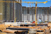 Major construction of residential complex — Stock Photo