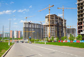 Construction of the new district — Stock Photo