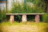 Rustic bench — Stock Photo