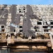 Dilapidated wooden leaky roof — Stockfoto
