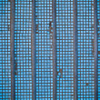 Old concrete wall with blue mosaic of small size — Stock Photo