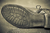 Male shoe sole. Handmade shoes. Vintage style — Stock Photo