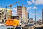 строительство нового района. современное строительство — Стоковое фото
