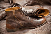 Men's leather fashion shoes. Autumn - spring shoes — Stock Photo