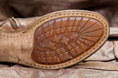 Male shoe sole. Handmade shoes. Vintage style. Cowboy style — Stock fotografie