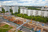 Construction of a new metro line in Moscow Michurinskom Avenue — Stok fotoğraf