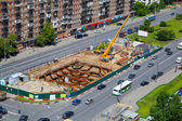 Construction of the metro line — Foto de Stock