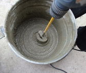 Concrete mixing — Stock Photo