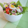 Salad with vegetables and eggs — Stock Photo