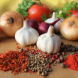 Herbs, spices and vegetables - Stock Photo
