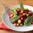 Salad with beets, peas, cucumber — Stock Photo