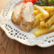 Chicken breast with potatoes and vegetables — Stock Photo