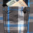 Stock Photo: Shirt pocket with money