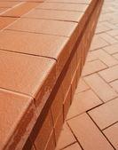Stone stairs of red bricks — Stock Photo