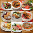 Collage of various meals — Stock Photo