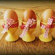 Stock Photo: Vintage photo of easter eggs