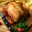 Roasted whole chicken — Stock Photo #41598947