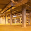 Panoramic view of object under construction shopping center — Stock Photo