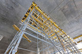 Wide view the scaffolding inside the building — Stock Photo