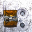Glass with whiskey — 图库照片