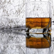 Glass with whiskey — Stock Photo