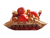 Apples and pomegranates isolated on white — Stock Photo