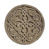 Middeleeuwse Armeense sieraad op Kruis-steen geïsoleerd op wit — Stockfoto