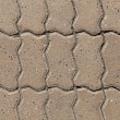 Pavement paved with cobblestone in Yerevan — Stock Photo
