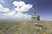 Church on top of a mountain near Mountain Road — Foto Stock