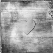 Heart on wooden background — Zdjęcie stockowe