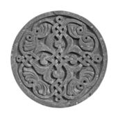Medieval Armenian ornament on cross stone isolated on white — ストック写真