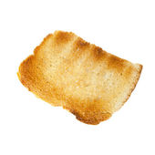 Slice of toasted bread isolated over white — Stock Photo